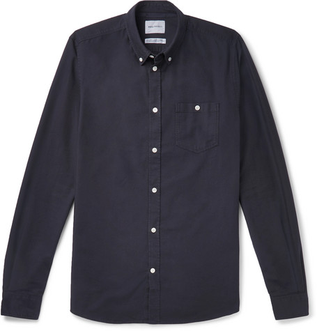 Anton Button Down Collar Cotton Shirt by Norse Projects
