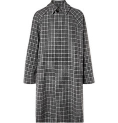 Balenciaga Oversized Checked Virgin Wool-Tweed Coat
