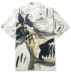 Folk - + Goss Brothers Orpheus Camp-Collar Printed Linen and Cotton-Blend Shirt
