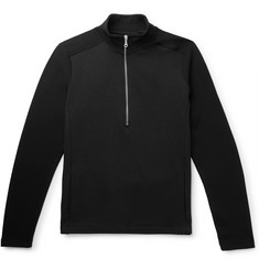 Folk Loopback Cotton and Tech-Jersey Half-Zip Sweatshirt