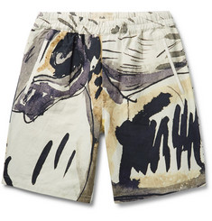 Folk - + Goss Brothers Orpheus Printed Linen and Cotton-Blend Shorts