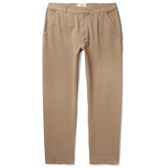 Folk - Signal Pleated Garment-Dyed Cotton Trousers