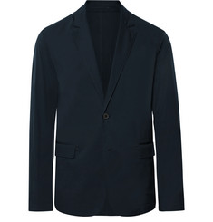 Theory Navy Saratoga Unstructured Cotton-Blend Blazer