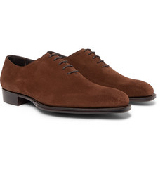 Kingsman - + George Cleverley Whole-Cut Suede Oxford Shoes
