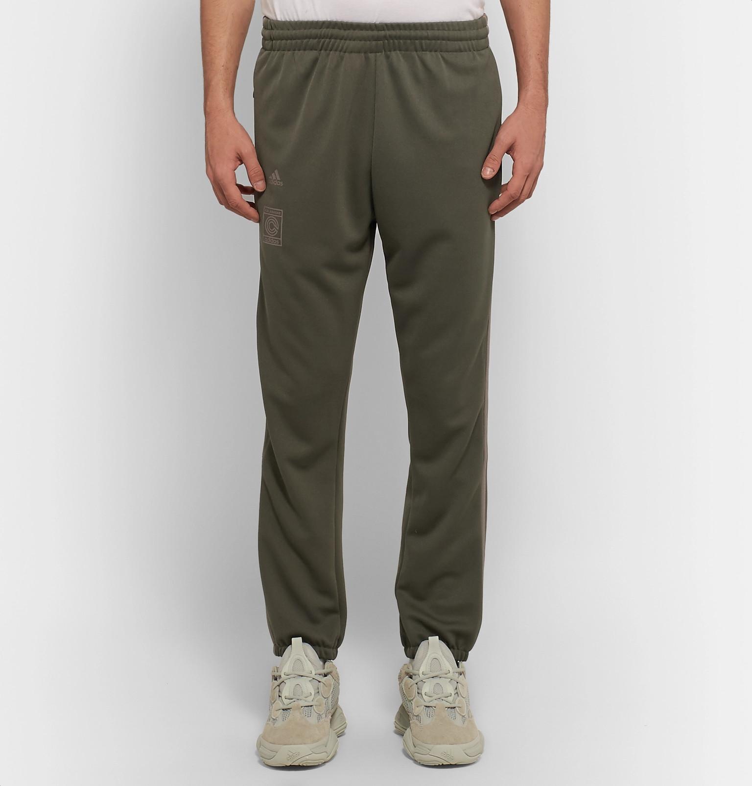 d114958e17516 adidas Originals+ Yeezy Calabasas Slim-Fit Tapered Striped Jersey Sweatpants