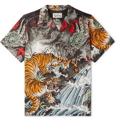 Wacko Maria - + Tim Lehi Camp-Collar Printed Voile Shirt