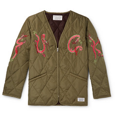 Wacko Maria Embroidered Quilted Shell Jacket