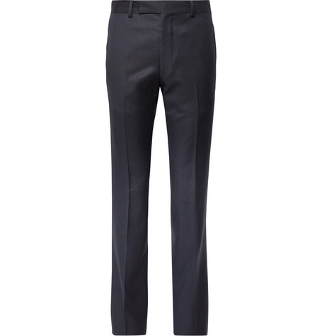 Wacko Maria Slim-Fit Striped Wool Trousers