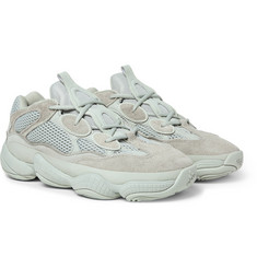 adidas Originals Yeezy 500 Leather, Suede and Mesh Sneakers