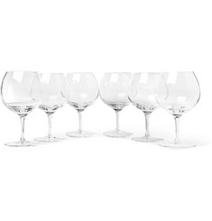 The Wolseley Collection - Set of Six Bevelled Red Wine Glasses