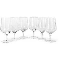 The Wolseley Collection Set of Six Bevelled White Wine Glasses