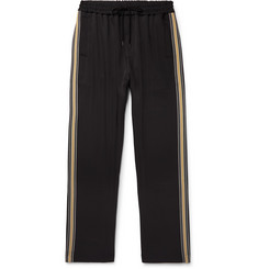 CMMN SWDN Buck Striped Grosgrain-Trimmed Tech-Jersey Sweatpants
