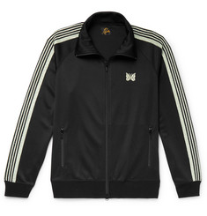 Needles Glittered Webbing-Trimmed Tech-Jersey Track Jacket