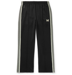 Needles Glittered Webbing-Trimmed Tech-Jersey Track Pants