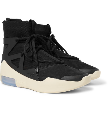 Air Fear Of God 1 Suede, Rubber And Mesh Sneakers by Nike