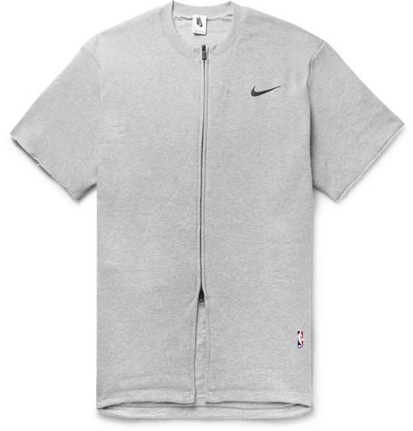 505cc08b22 Nike - + Fear of God Oversized Mélange Cotton-Blend Jersey Zip-Up T ...