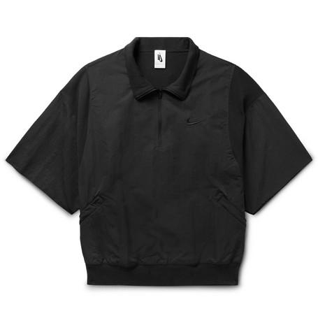 e3cf42b0b Nike - + Fear of God Oversized Piqué-Panelled Nylon Half-Zip Jacket