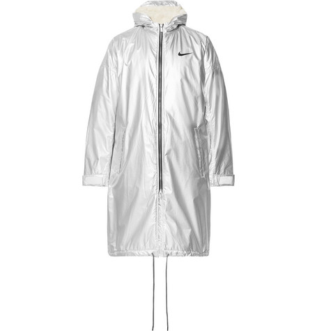 85c2d16f2 Nike+ Fear of God NRG Ti Oversized Sherpa-Lined Textured-Nylon Hooded Parka