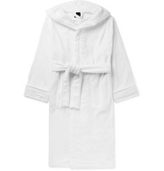 Versace - Logo-Jacquard Cotton-Terry Hooded Robe