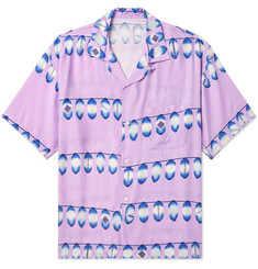 Flagstuff Camp-Collar Printed Poplin Shirt