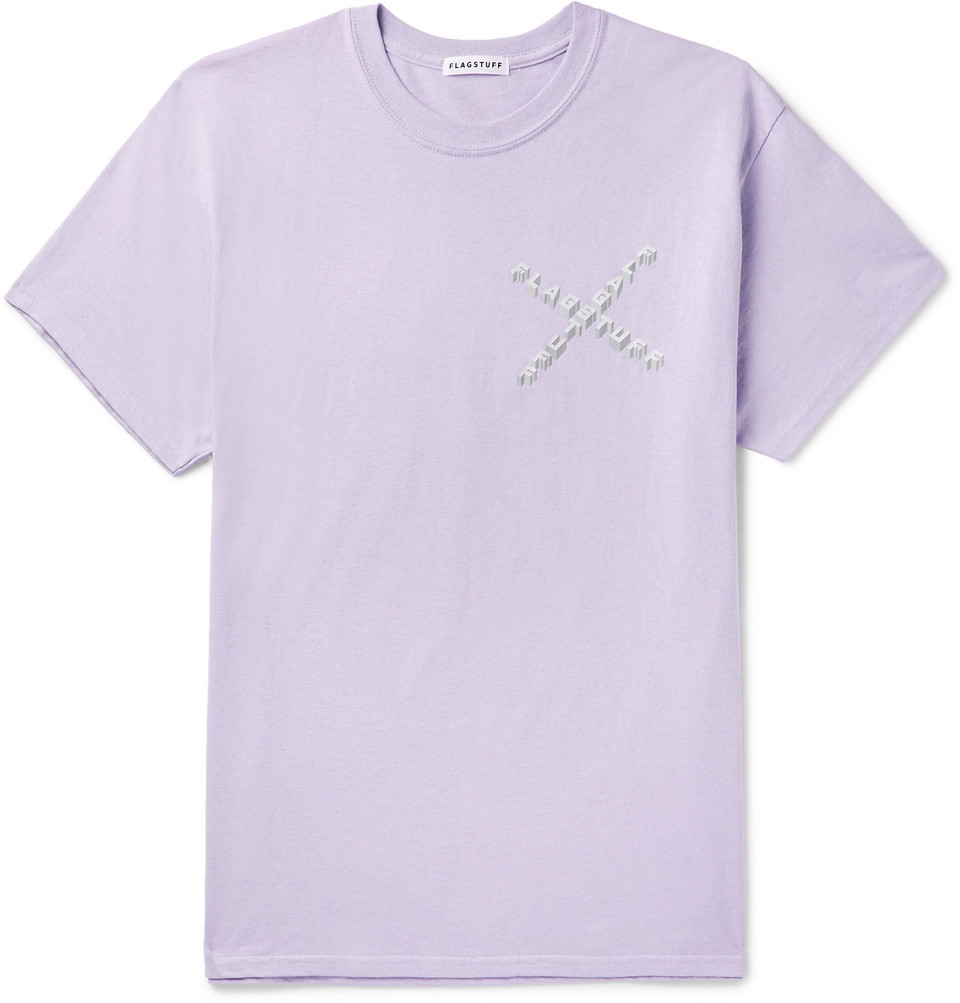 Logo-print Cotton-jersey T-shirt - Purple