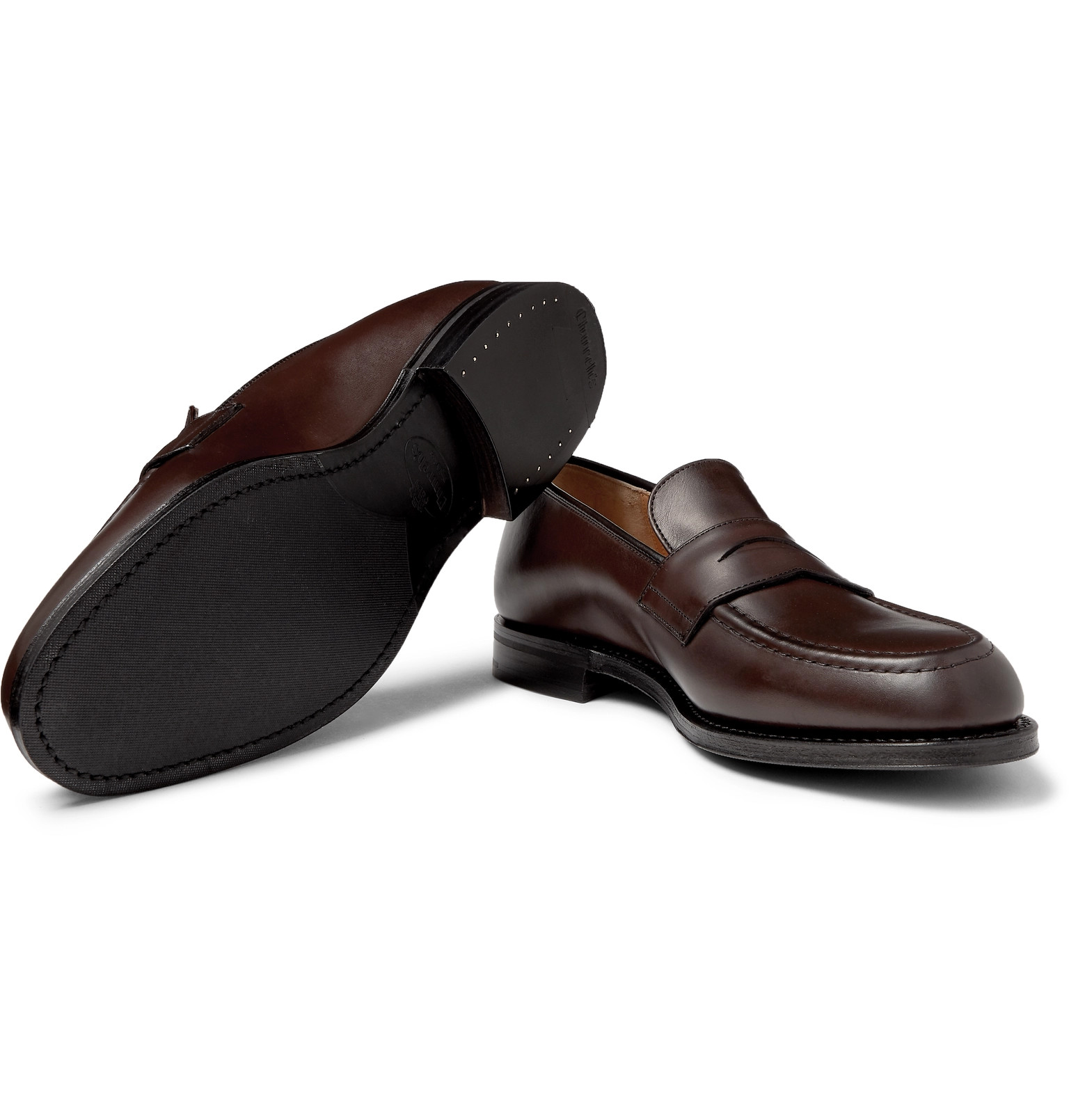 9355494d926e Church s - Netton Polished-Leather Penny Loafers