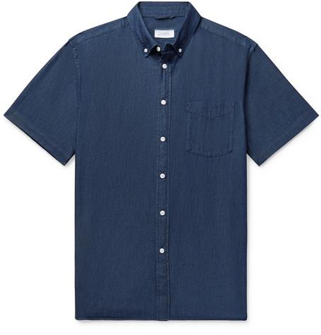 Button Down Collar Denim Shirt by Saturdays Nyc