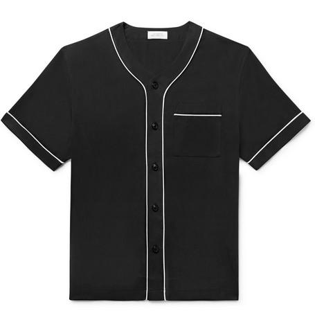 Saturdays Surf Nyc T-shirts PIPED LYOCELL BASEBALL SHIRT
