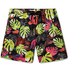 Saturdays NYC - Wide-Leg Mid-Length Printed Swim Shorts