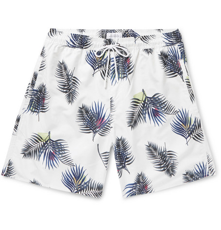 Saturdays NYC Wide-Leg Long-Length Printed Swim Shorts