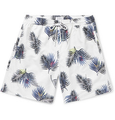 Saturdays NYC - Wide-Leg Long-Length Printed Swim Shorts