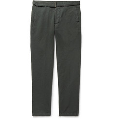 Officine Generale - Julian Slim-Fit Garment-Dyed Cotton and Linen-Blend Trousers
