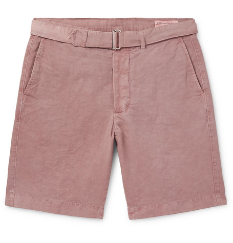 Julian Slim Fit Garment Dyed Cotton Blend Shorts by Officine Generale