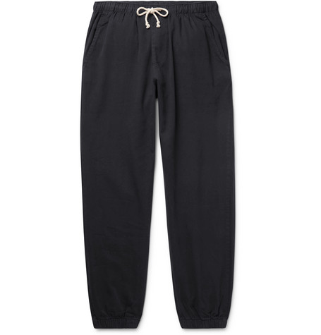 Mollusk Jeffrey Slim-Fit Tapered Cotton-Twill Drawstring Sweatpants