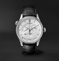 Jaeger-LeCoultre Master Geographic Automatic 39mm Stainless Steel and Alligator Watch