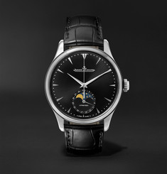 Jaeger-LeCoultre - Master Ultra Thin Moon Automatic 39mm Stainless Steel and Leather Watch