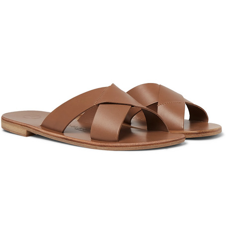 Antonio Leather Sandals by Álvaro