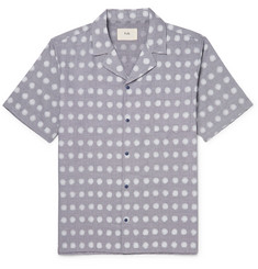 Folk - Camp-Collar Polka-Dot Linen and Cotton-Blend Shirt