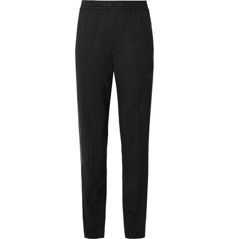 Tapered Striped Stretch Wool Trousers by Helmut Lang