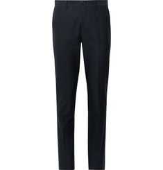 PS Paul Smith Midnight-Blue Slim-Fit Cotton-Blend Faille Trousers
