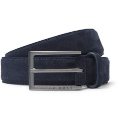 Hugo Boss 3cm Navy Cedy Suede Belt