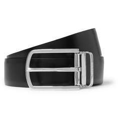 4cm Black And Brown Ofisy Reversible Leather Belt - Black