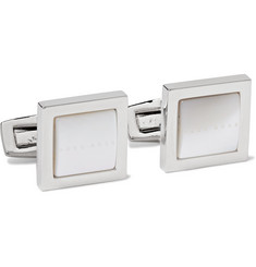 Hugo Boss - Silver-Tone Mother-of-Pearl Cufflinks