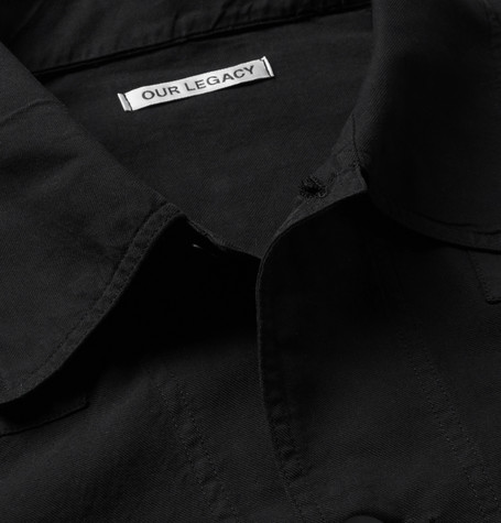 Our Legacy Opening Ceremony Black Voile Work Patch Jacket