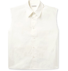 Our Legacy Distressed Printed Cotton-Poplin Shirt
