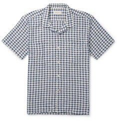 Oliver Spencer - Ebley Camp-Collar Checked Woven Cotton Shirt