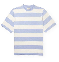 Oliver Spencer Paz Striped Mélange Cotton-Jersey T-Shirt