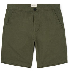 Oliver Spencer Linton Linen and Cotton-Blend Shorts