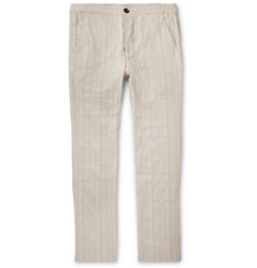Oliver Spencer - Beckford Striped Linen and Cotton-Blend Jacquard Trousers