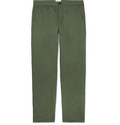 Oliver Spencer Linen and Cotton-Blend Canvas Trousers